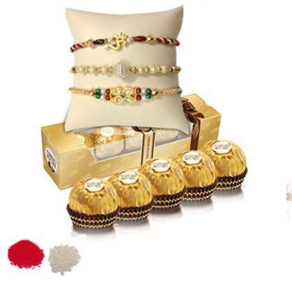 Fancy Rakhi with Chocolates