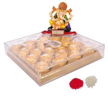 Ferrero Rocher Chocolates with Lord Ganesh Idol
