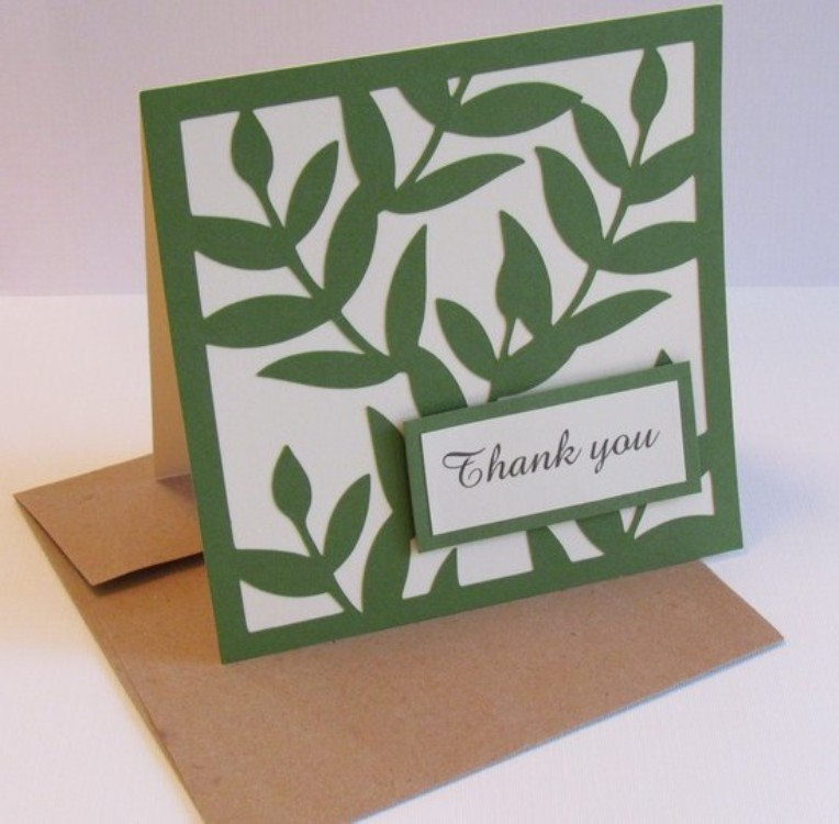 A Thank you Note on a Plant Leaf