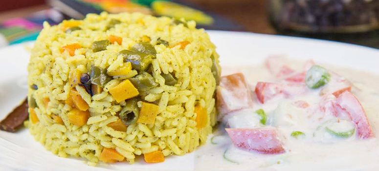 Vegetable Pulao & Raita