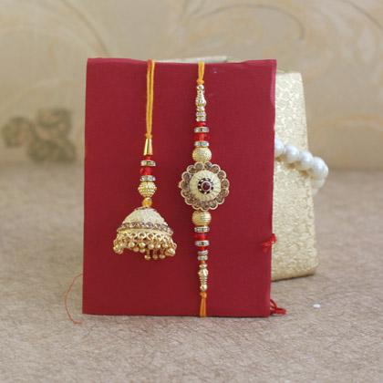 Golden Bhaiya Bhabhi Rakhi