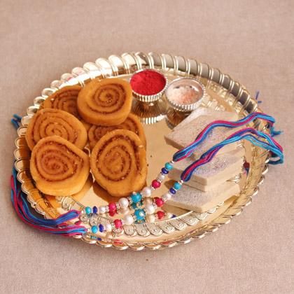 silver thali