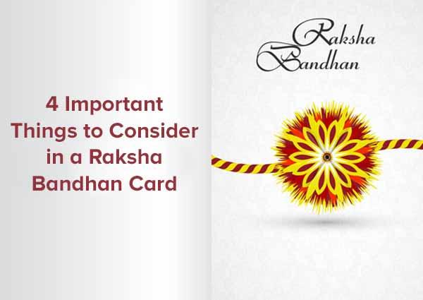 Consider in a Raksha Bandhan Card