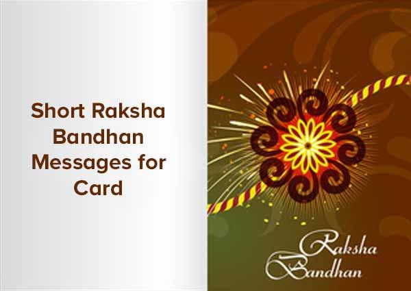 Short Raksha Bandhan Messages for Card
