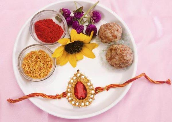 Puja Thali Preparation