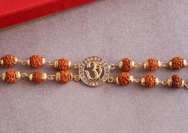 Om Rudraksha Bracelet Rakhi