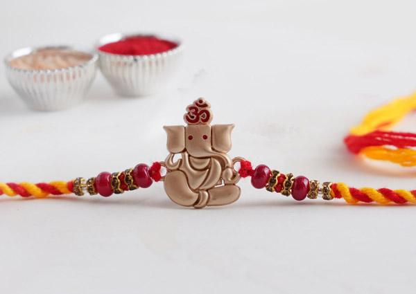 Silver Ganesha Rakhi