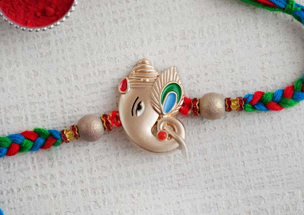 Silver Ganpati Rakhi