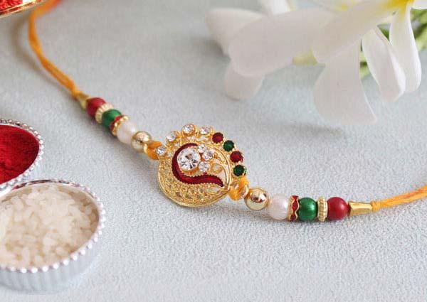 golden colored Rakhi