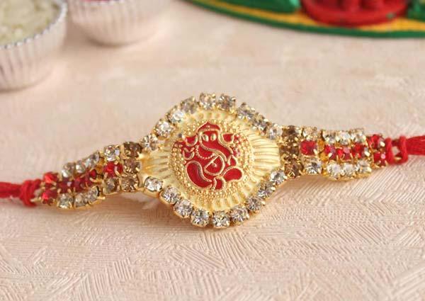 red or pink Rakhi