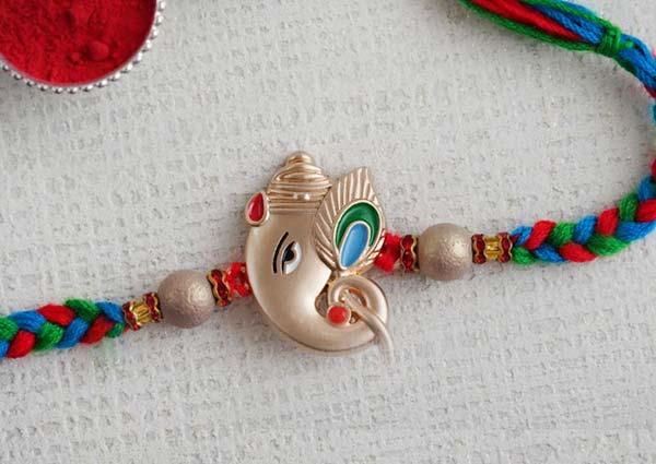Ganesha Silver Rakhi